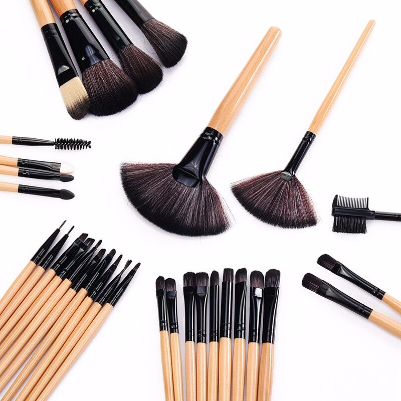 Stock Clearance !!! 32Pcs Print Logo Makeup Brushes Professional Cosmetic Make Up Brush Set The Best Quality! 4