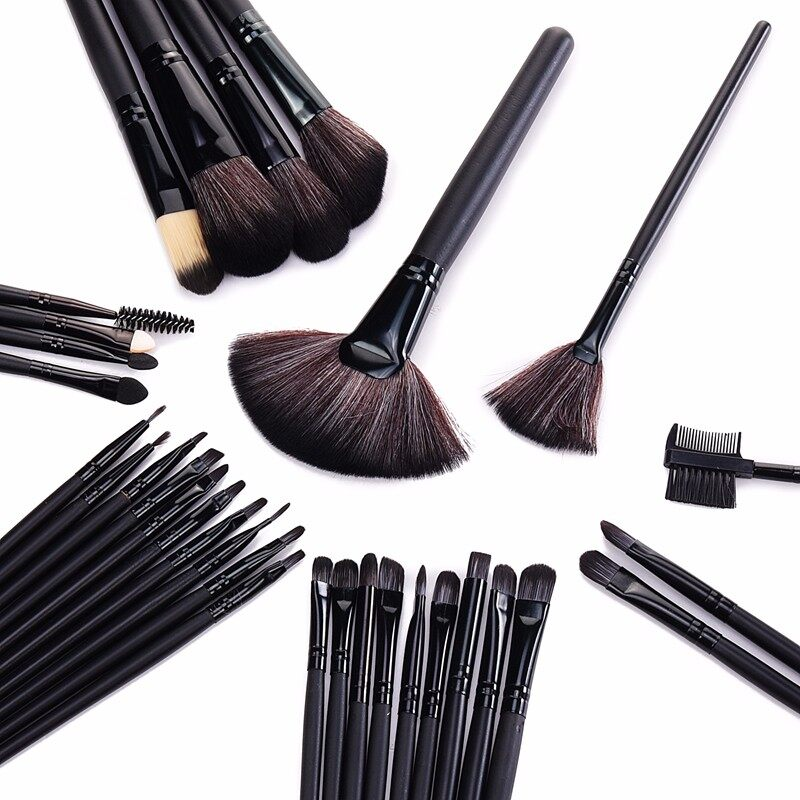 Stock Clearance !!! 32Pcs Print Logo Makeup Brushes Professional Cosmetic Make Up Brush Set The Best Quality! 5