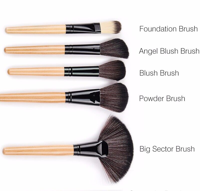 Stock Clearance !!! 32Pcs Print Logo Makeup Brushes Professional Cosmetic Make Up Brush Set The Best Quality! 6