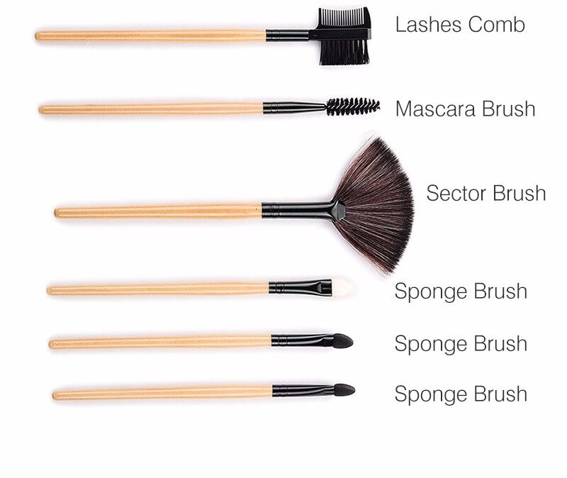 Stock Clearance !!! 32Pcs Print Logo Makeup Brushes Professional Cosmetic Make Up Brush Set The Best Quality! 9