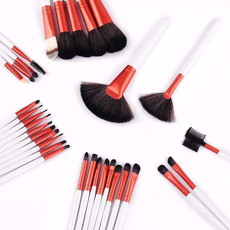 Stock Clearance !!! 32Pcs Print Logo Makeup Brushes Professional Cosmetic Make Up Brush Set The Best Quality! 24