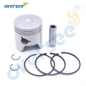 6H4-11631 Piston and 3 Rings Kit STD For Yamaha Outboard Motor 2t 40HP 50HP 3 Cylinder 6H4-11631-09-96/95 67MM