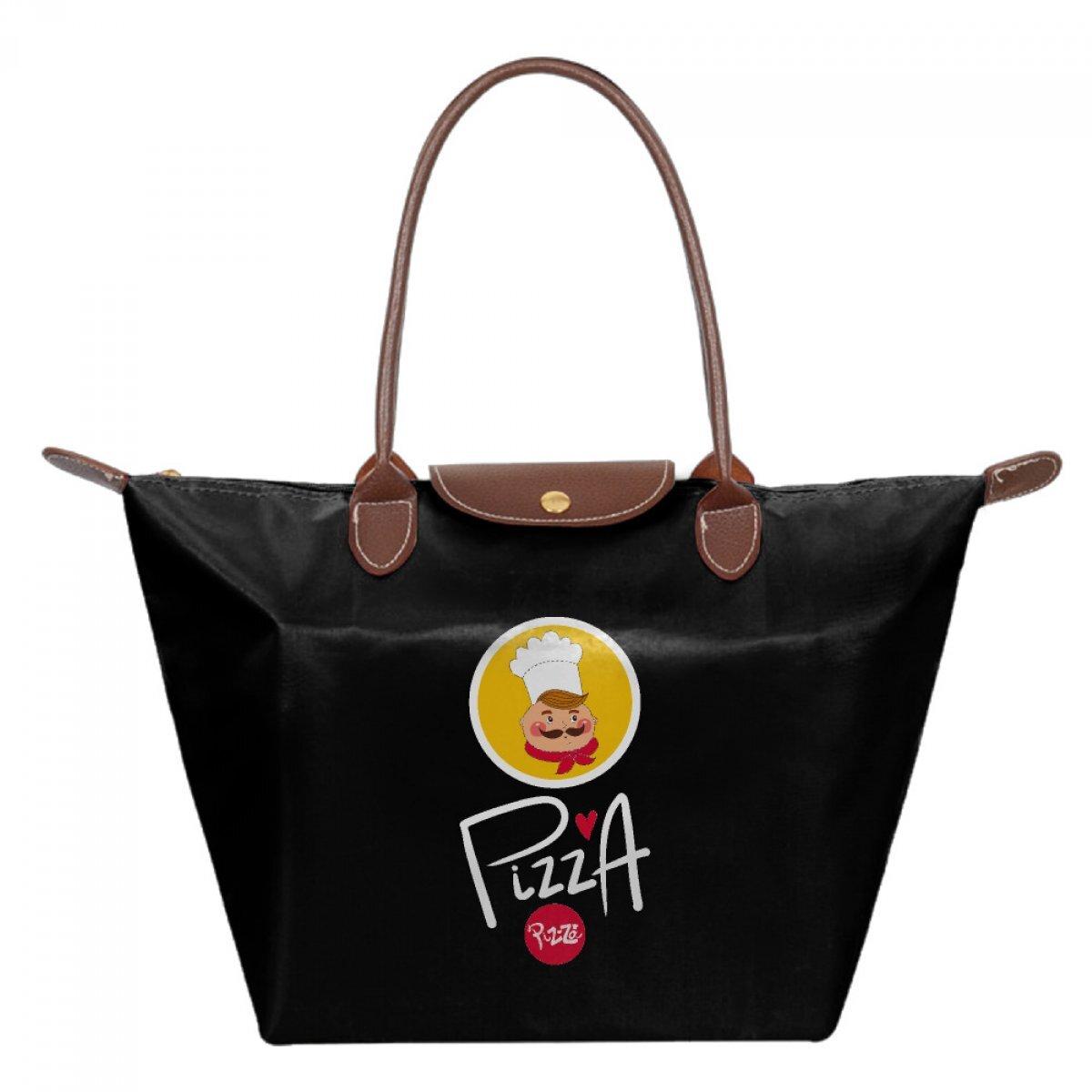 PhoRock Foldable Tote Shoulder Bags Women Shoping Bag Waterproof Nylon Dumpling Dessert Printed Bag JZMS007 0