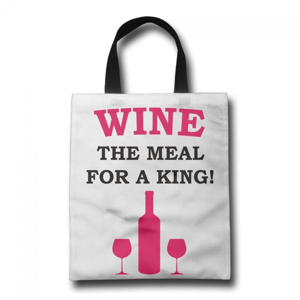 PhoRock Ladies Canvas Beach Tote Red Wine Printed Tote Bag GWJP006 0