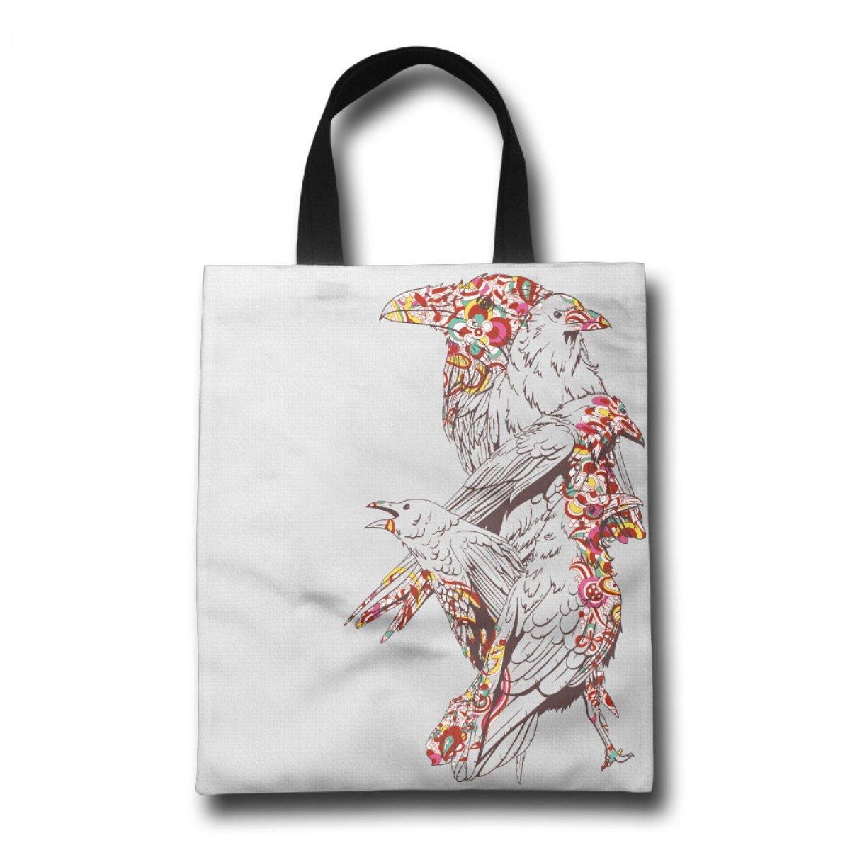 PhoRock Ladies Canvas Tote Bag Five Eagles Printed Beach Tote GWDW021 0
