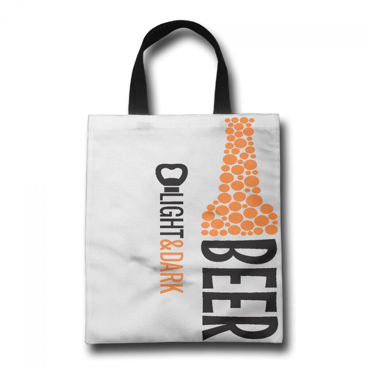 PhoRock Ladies Tote Bag Beer Printed Canvas Beach Tote GWJP016 0