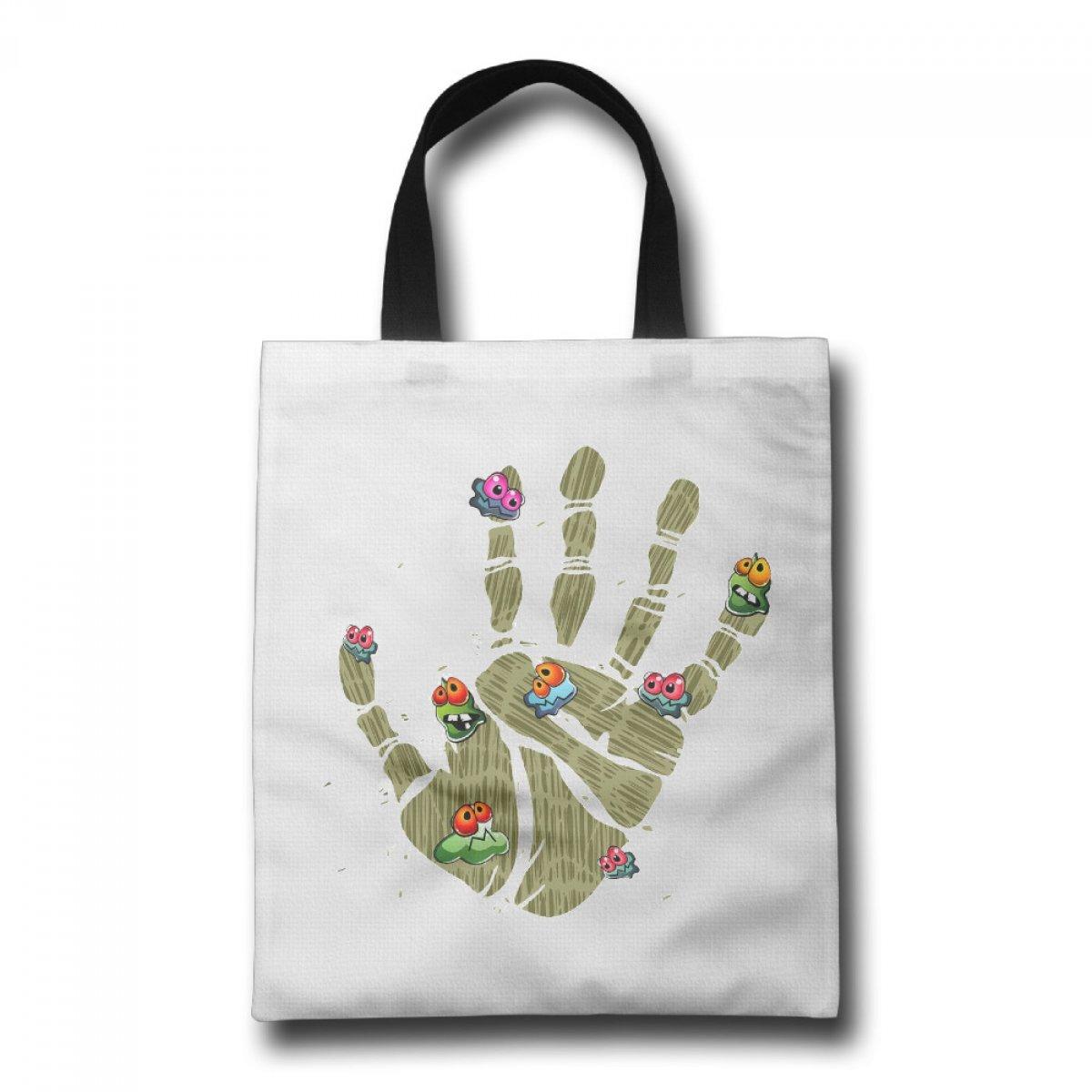 PhoRock Ladies Tote Bag Eight Virus Printed Canvas Beach Tote GWBD008 0