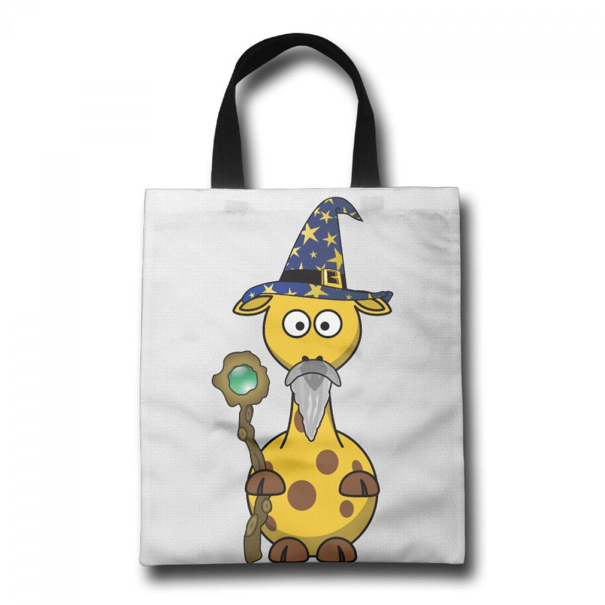 PhoRock Ladies Tote Bag Old Giraffe Printed Canvas Beach Tote GWJB008 0