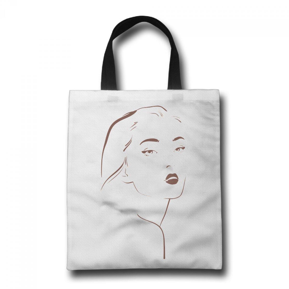 PhoRock Women Tote Bag A Beauty Printed Canvas Beach Tote GWJB012 0