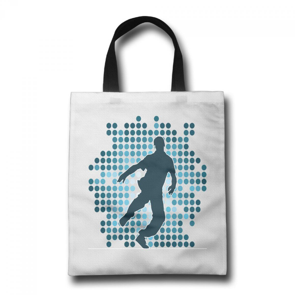 PhoRock Ladies Canvas Beach Tote A Male Dancer Printed Tote Bag GWWD006 0