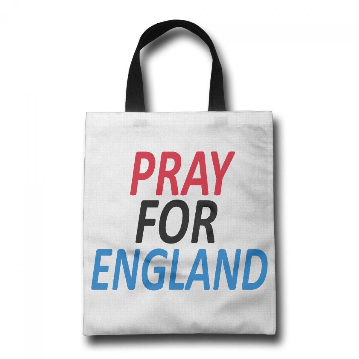 PhoRock Ladies Canvas Beach Tote Pray For England Printed Tote Bag GWRF006 0