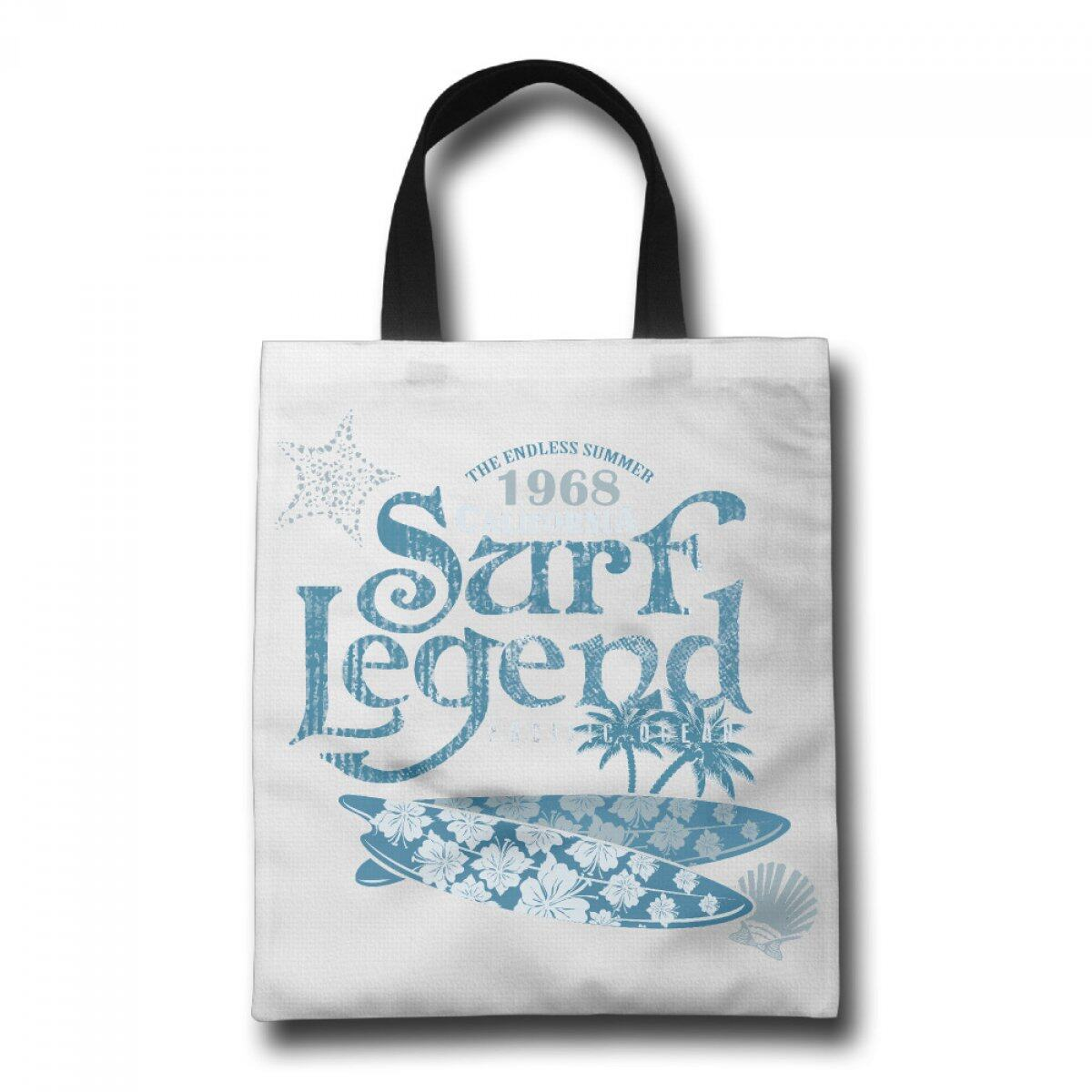 PhoRock Ladies Canvas Beach Tote Surf Legrnd Printed Tote Bag GWYD006 0