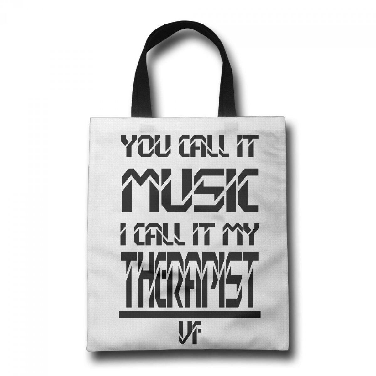 PhoRock Ladies Tote Bag music And Therapist Printed Canvas Beach Tote GWWZ016 0