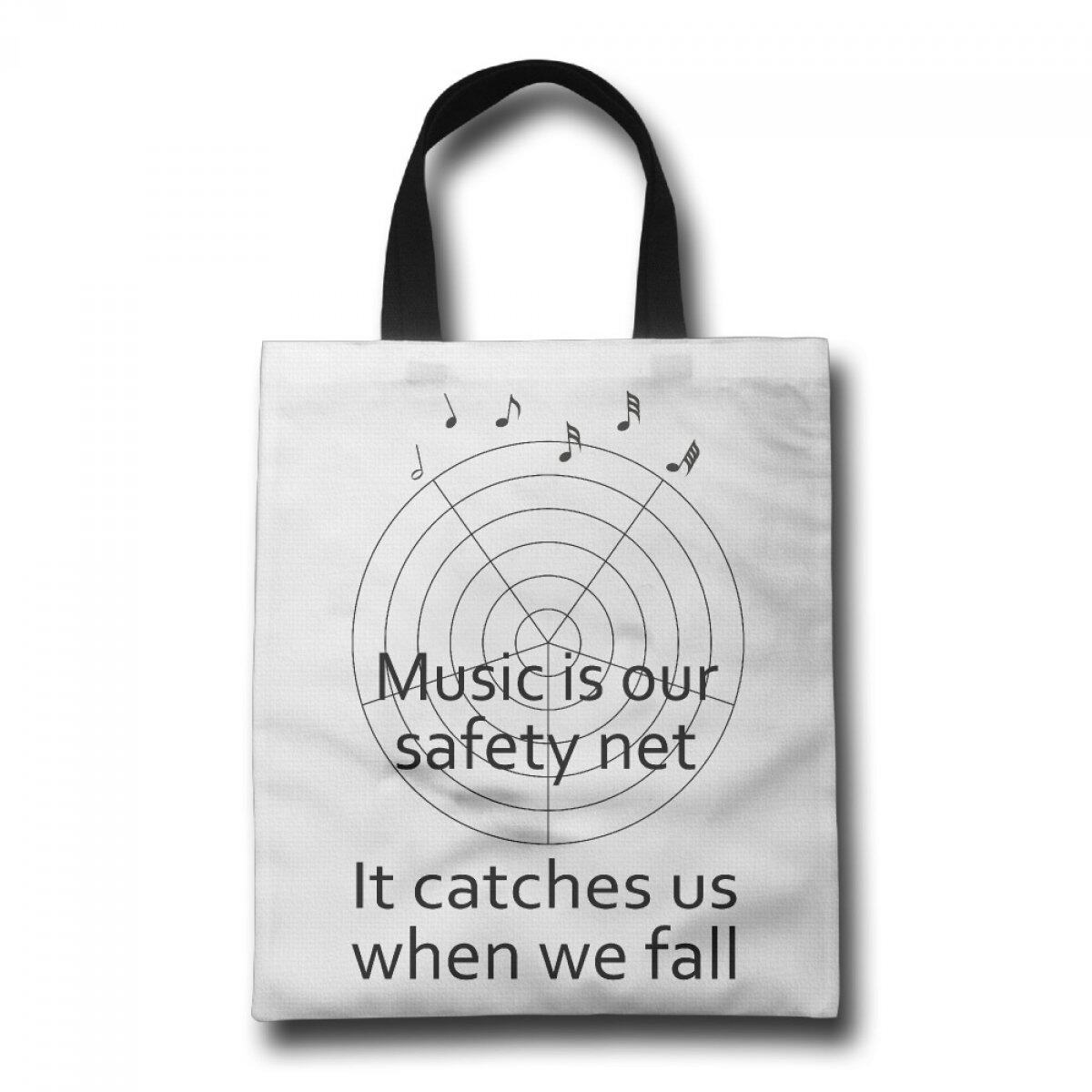 PhoRock Women Beach Tote Music Net Printed Canvas Tote Bag GWWZ019 0
