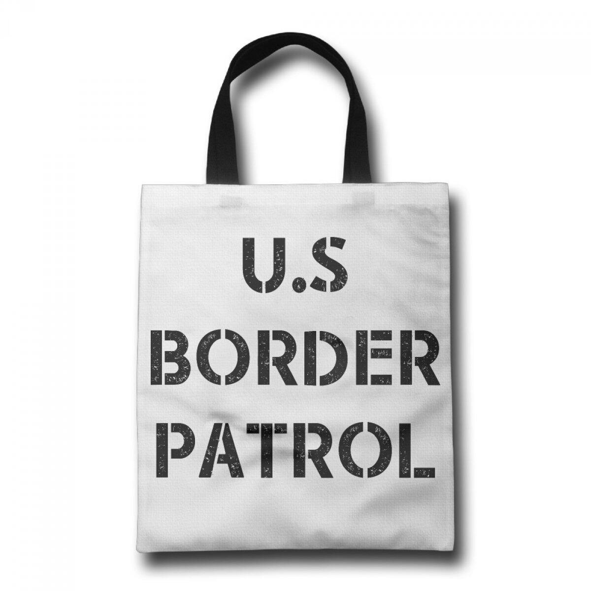 PhoRock Women Build The Wall  Border Patrol Printed Canvas Tote Bag GWRC003 0