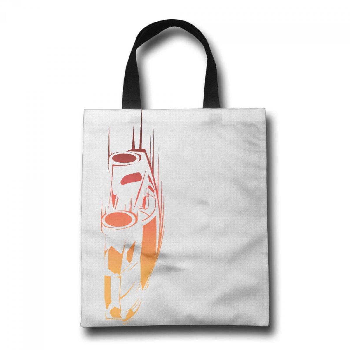 PhoRock Women Shopping Canvas Tote Bag Handbag Beach Printing Racing Car GWCC005 0