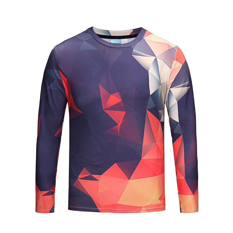 a59f859eb PhoRock Gentleman Geometric Figure 3D Printing Long Sleeve T-shirt CT3D013