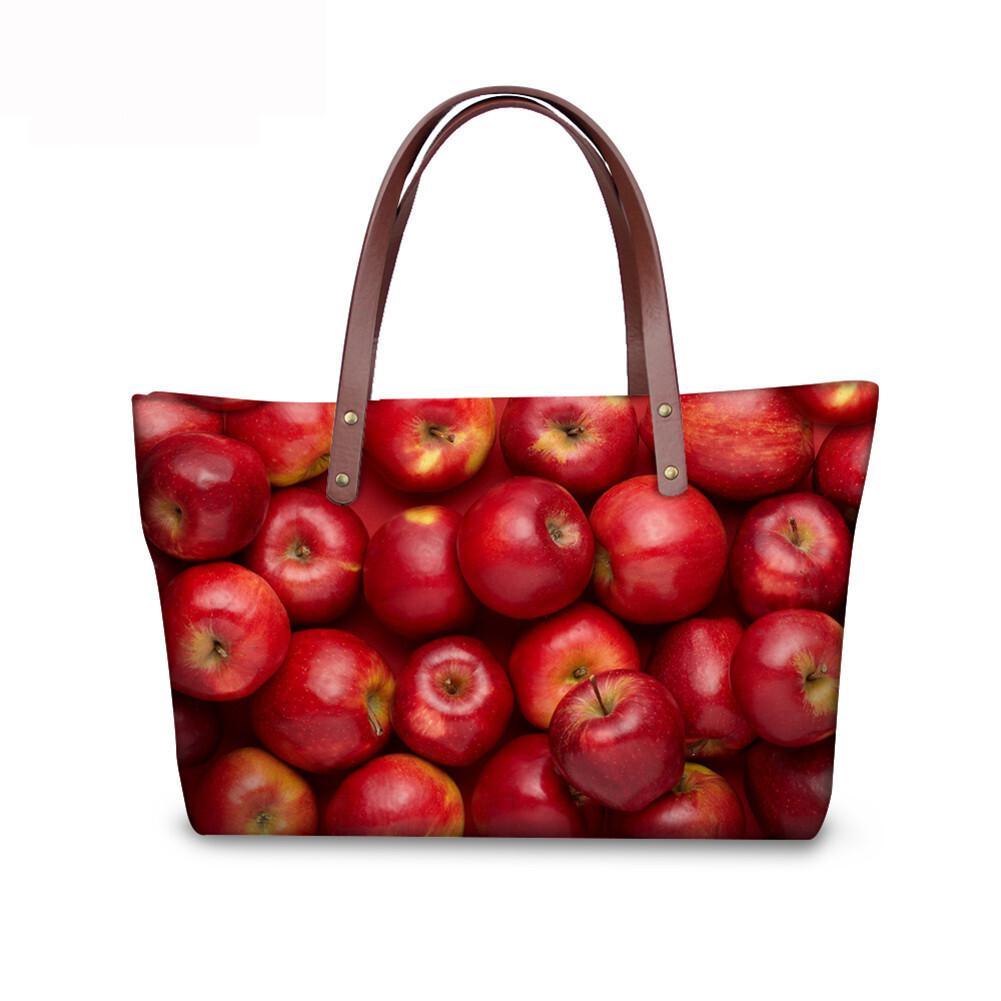 PhoRock Women 3D Fresh Fruits Printing Large Top Handle Shoulder Bags NKB3D040 2