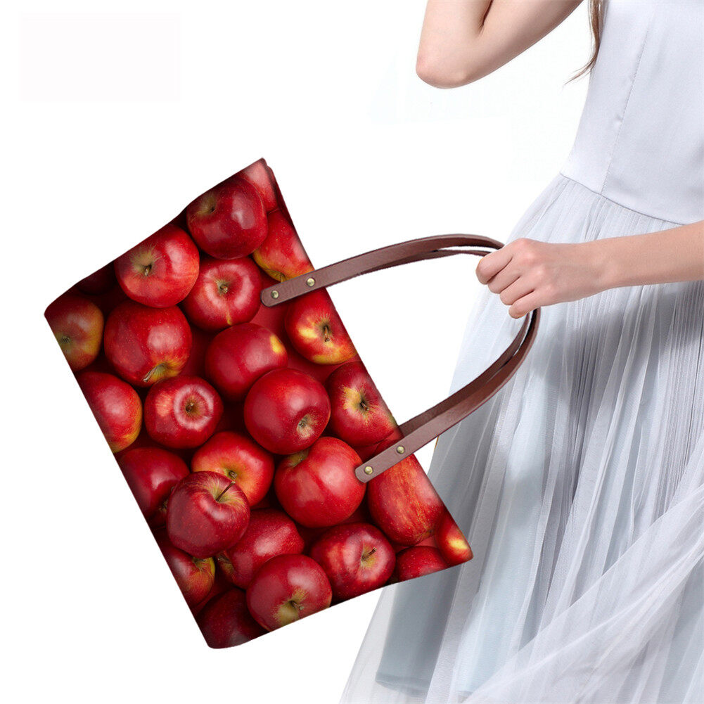 PhoRock Women 3D Fresh Fruits Printing Large Top Handle Shoulder Bags NKB3D040 11