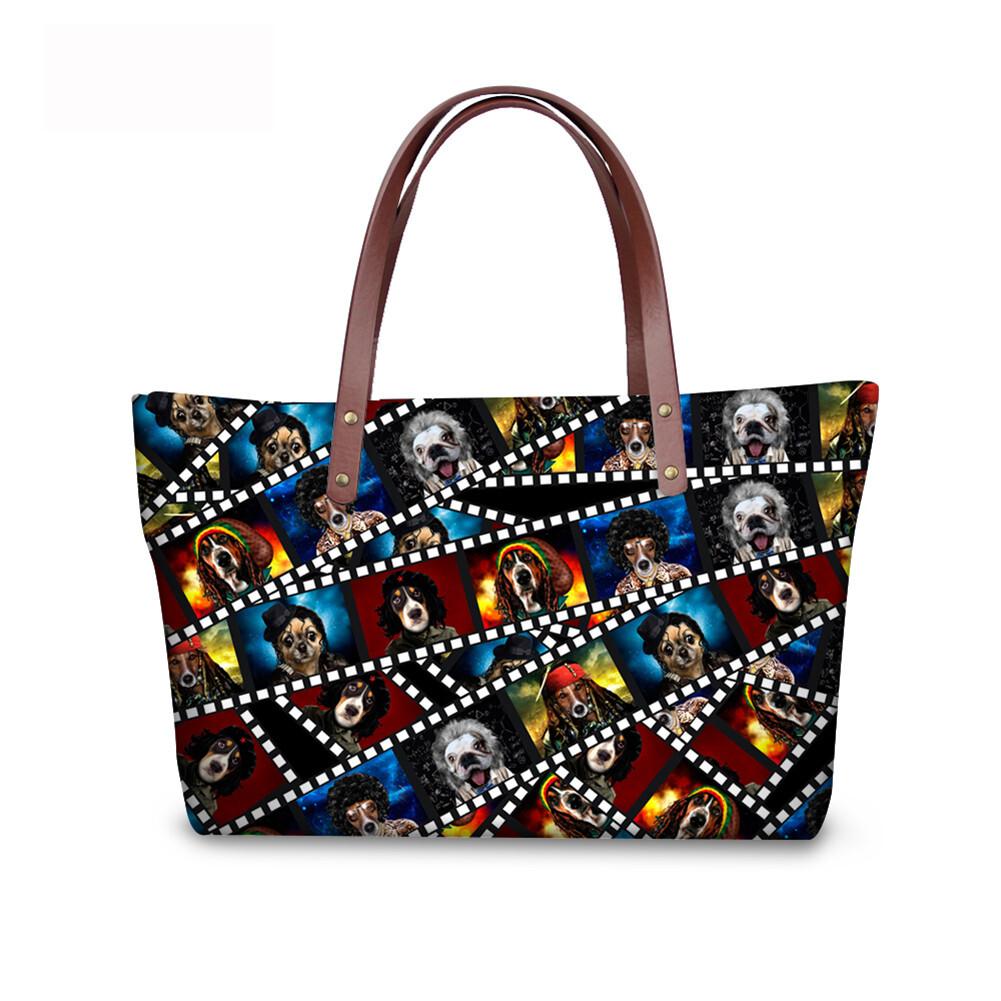 PhoRock Women 3D Kinds of Films Printed Large Tote Bag Handbag NKB3D015 0