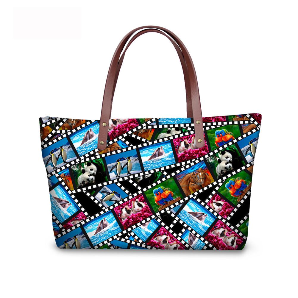 PhoRock Women 3D Kinds of Films Printed Large Tote Bag Handbag NKB3D015 1