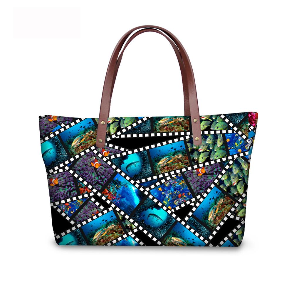 PhoRock Women 3D Kinds of Films Printed Large Tote Bag Handbag NKB3D015 2