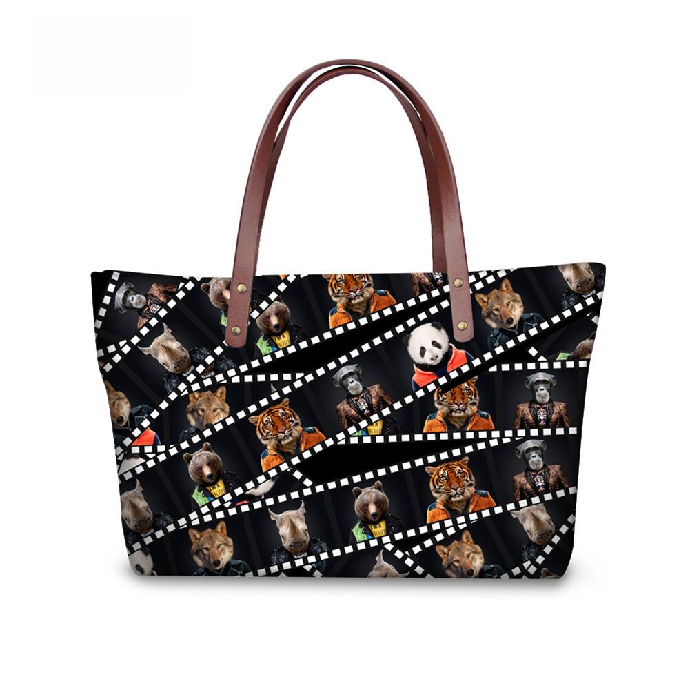 PhoRock Women 3D Kinds of Films Printed Large Tote Bag Handbag NKB3D015 3
