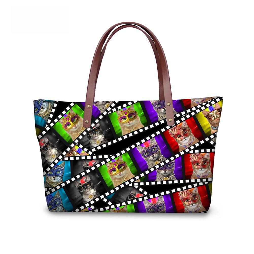 PhoRock Women 3D Kinds of Films Printed Large Tote Bag Handbag NKB3D015 4