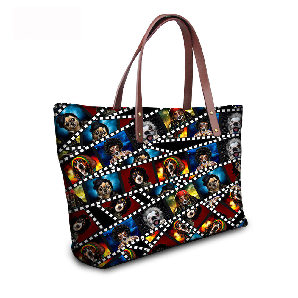 PhoRock Women 3D Kinds of Films Printed Large Tote Bag Handbag NKB3D015 8