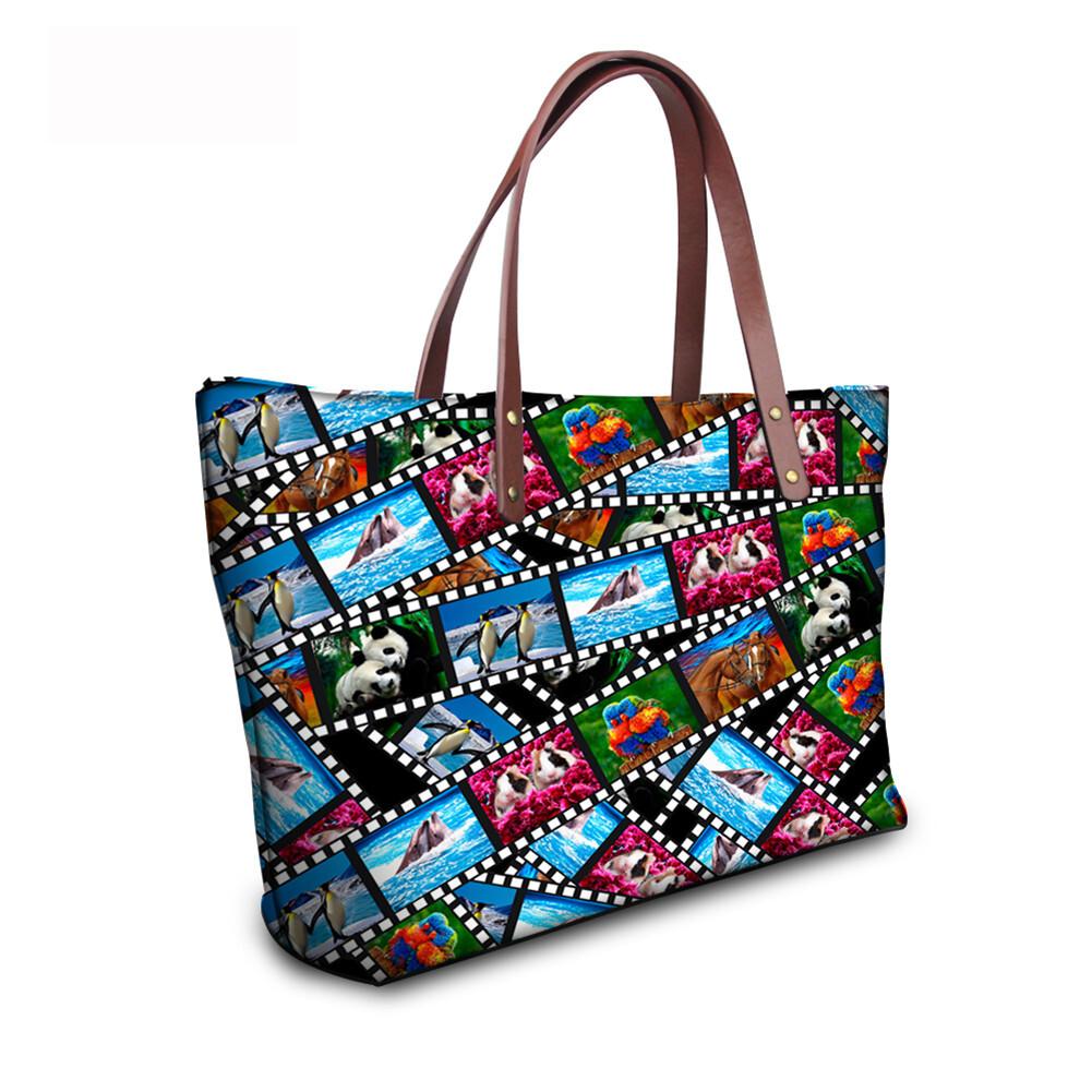 PhoRock Women 3D Kinds of Films Printed Large Tote Bag Handbag NKB3D015 9