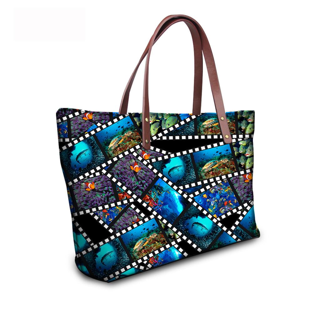 PhoRock Women 3D Kinds of Films Printed Large Tote Bag Handbag NKB3D015 10