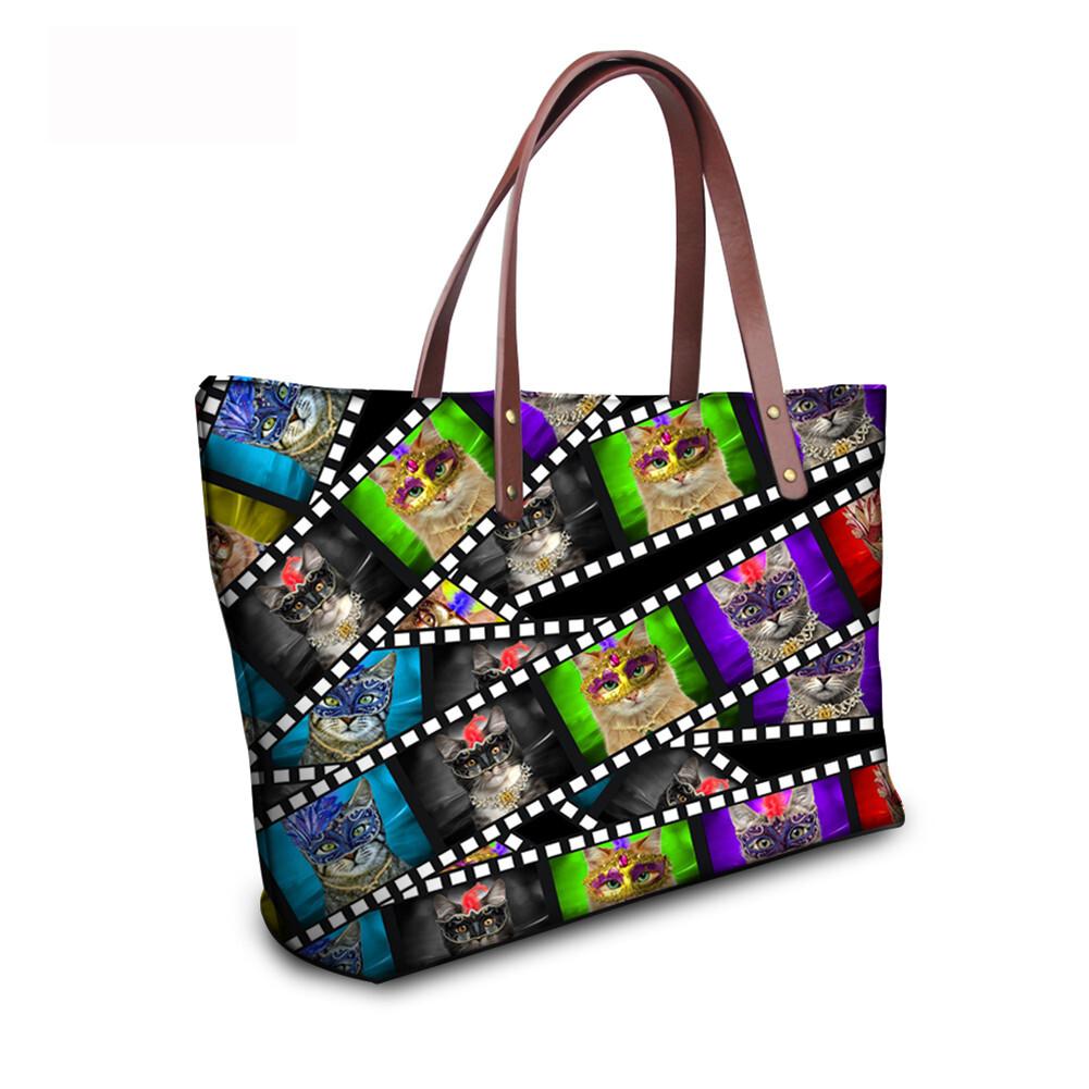 PhoRock Women 3D Kinds of Films Printed Large Tote Bag Handbag NKB3D015 12