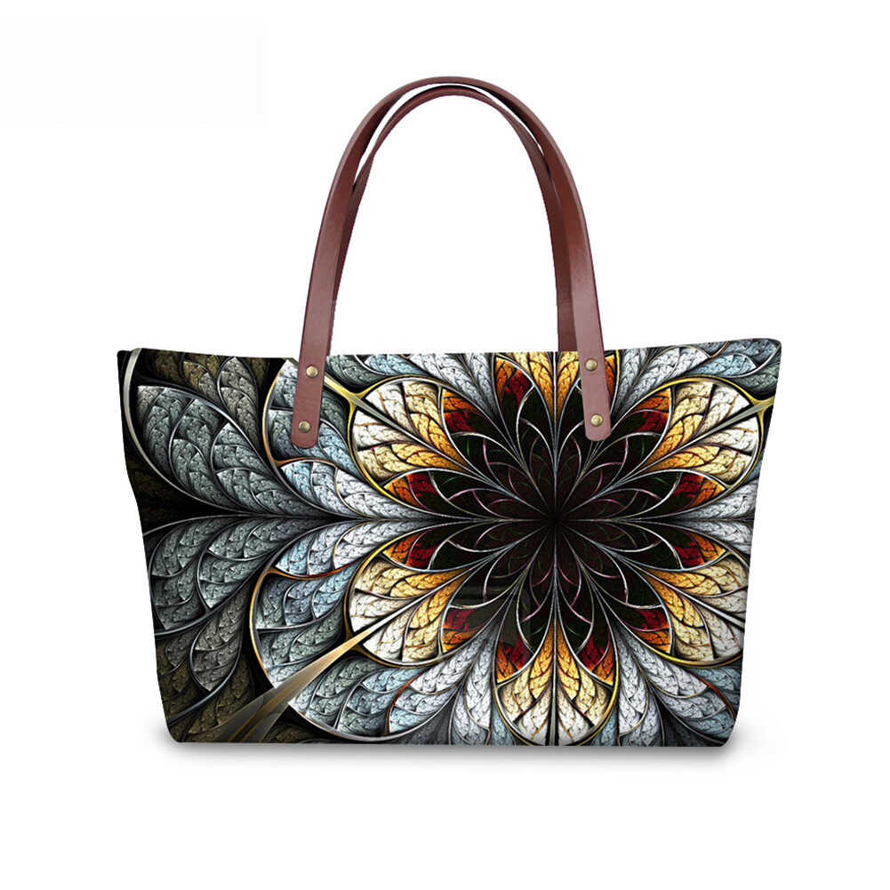 PhoRock Women Large Top Handle Shoulder Bags 3D Flowers printed Handbag NKB3D002 0