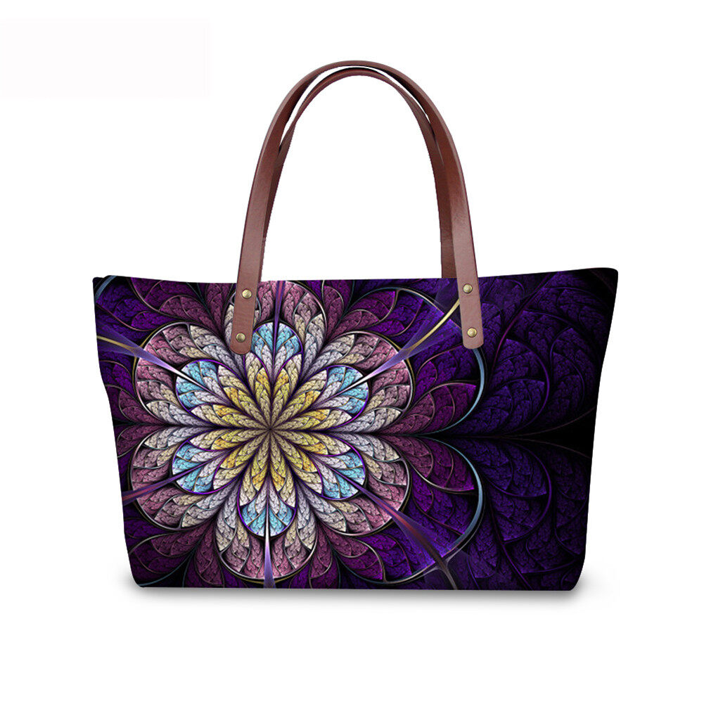 PhoRock Women Large Top Handle Shoulder Bags 3D Flowers printed Handbag NKB3D002 1