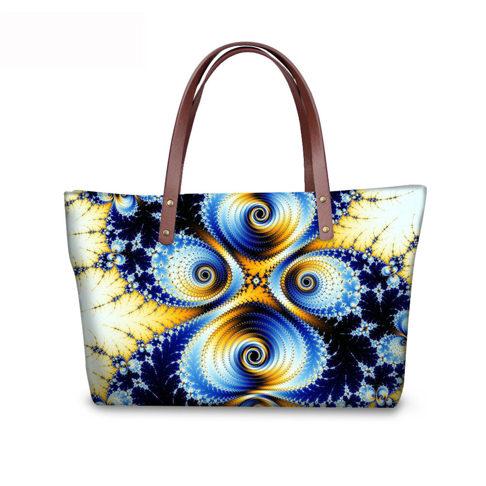 PhoRock Women Large Top Handle Shoulder Bags 3D Flowers printed Handbag NKB3D002 4
