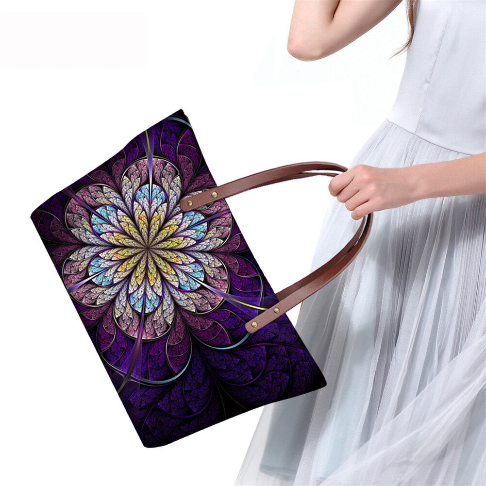 PhoRock Women Large Top Handle Shoulder Bags 3D Flowers printed Handbag NKB3D002 10
