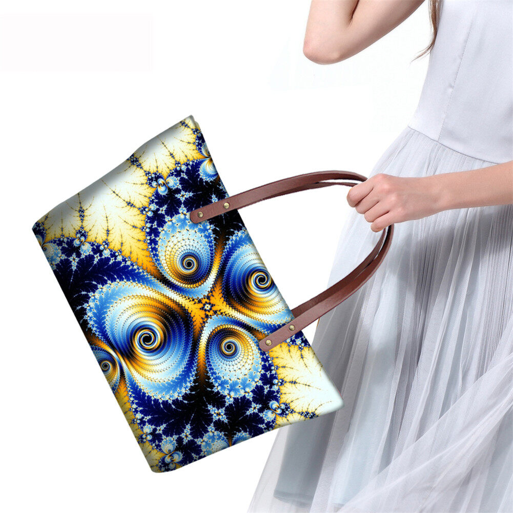 PhoRock Women Large Top Handle Shoulder Bags 3D Flowers printed Handbag NKB3D002 13