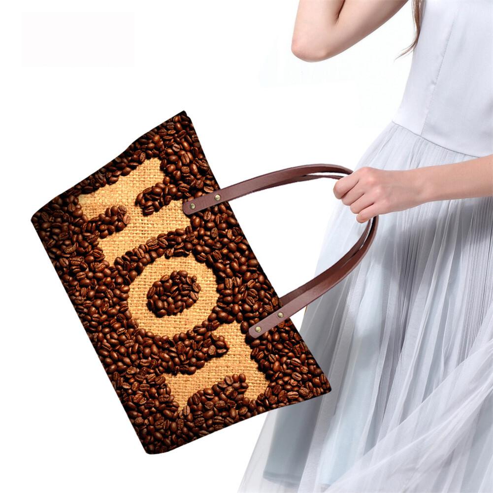 PhoRock Women Large Tote Bag 3D Chocolate Printed Handbag NKB3D052 8
