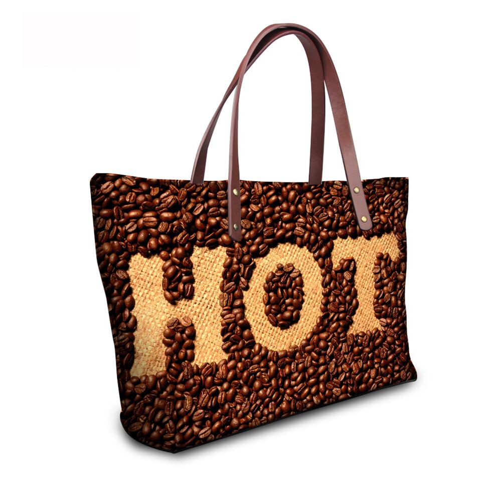 PhoRock Women Large Tote Bag 3D Chocolate Printed Handbag NKB3D052 9