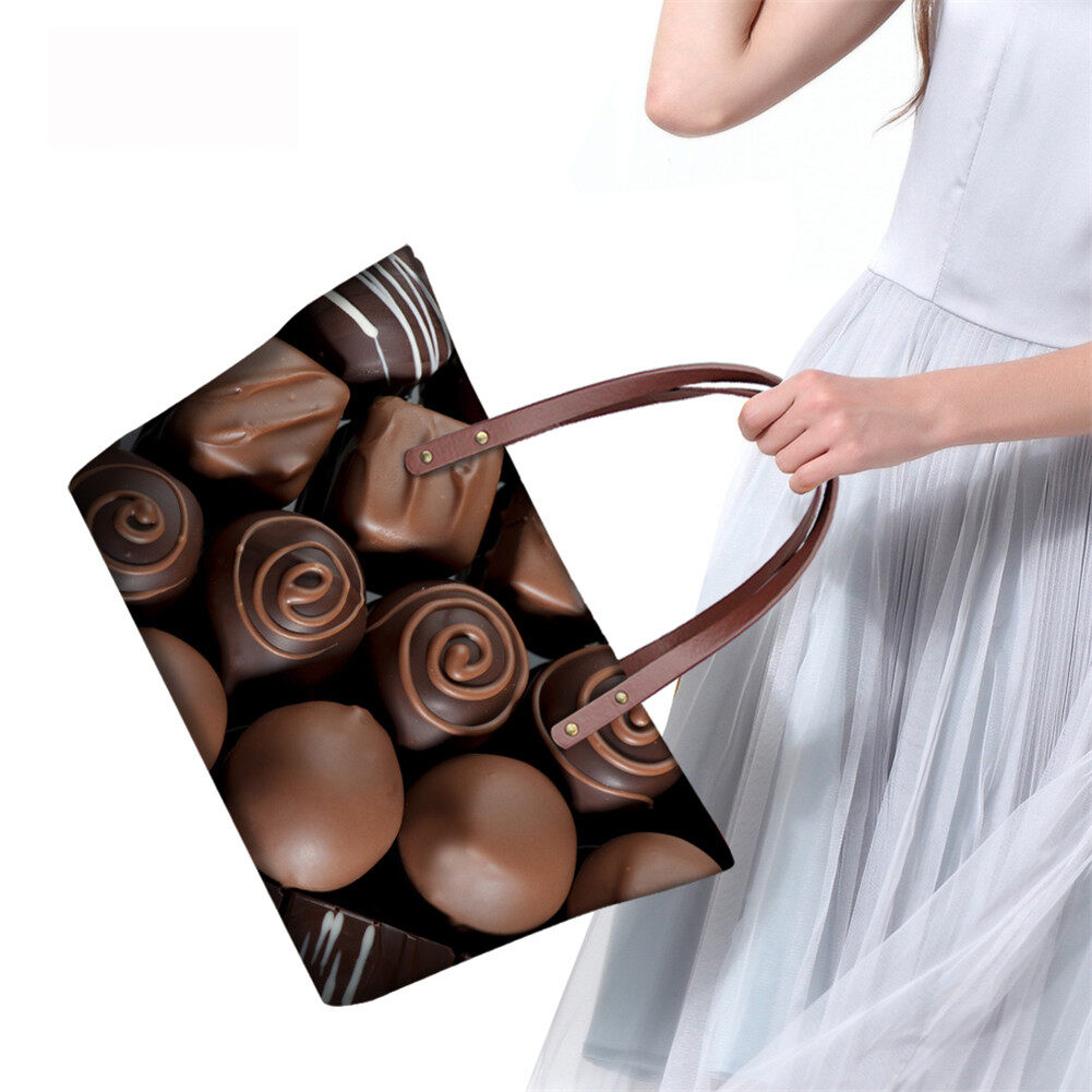 PhoRock Women Large Tote Bag 3D Chocolate Printed Handbag NKB3D052 11