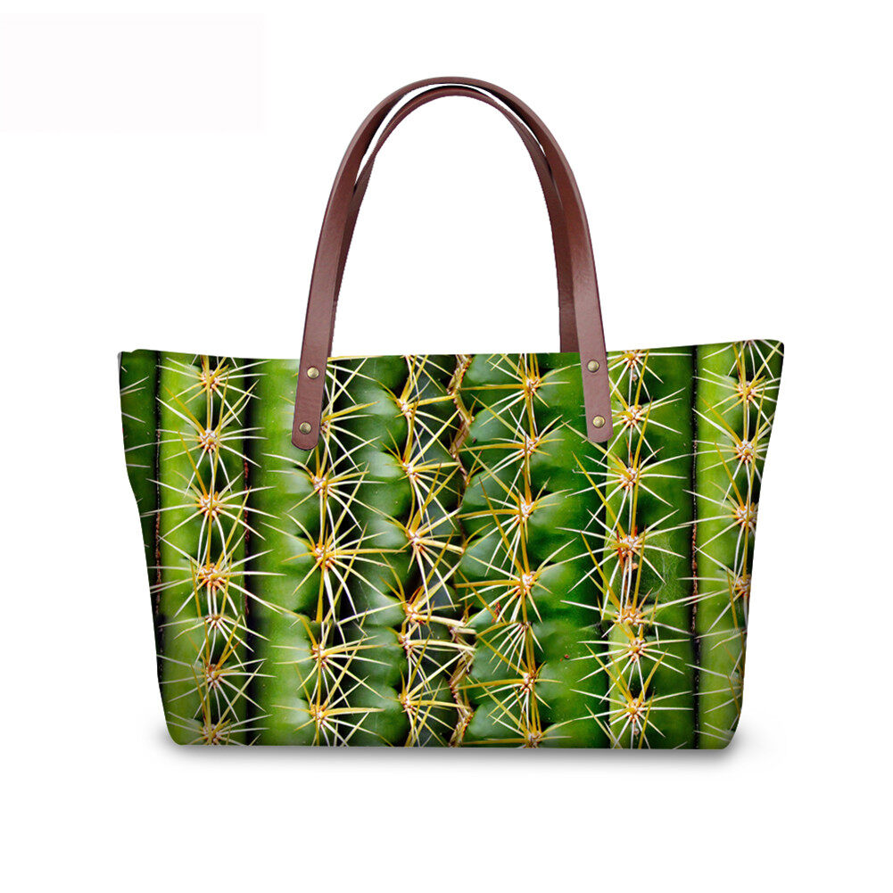 PhoRock Women Large Tote Bag 3D Leaves Printed Handbag NKB3D062 1