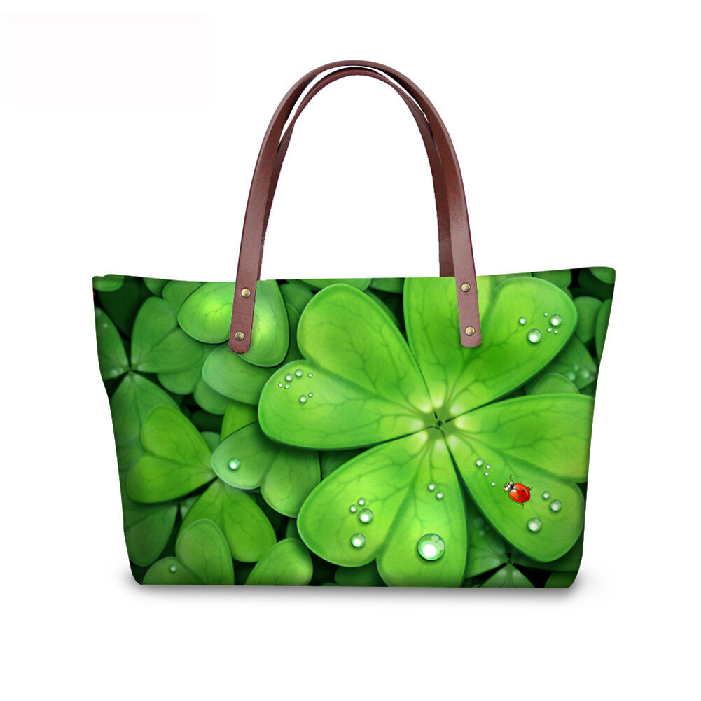 PhoRock Women Large Tote Bag 3D Leaves Printed Handbag NKB3D062 2