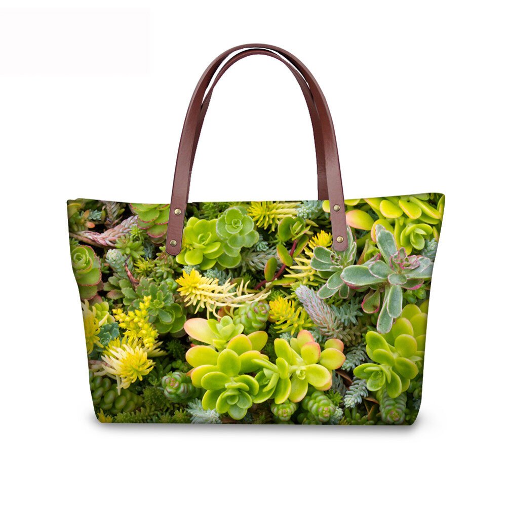 PhoRock Women Large Tote Bag 3D Leaves Printed Handbag NKB3D062 3