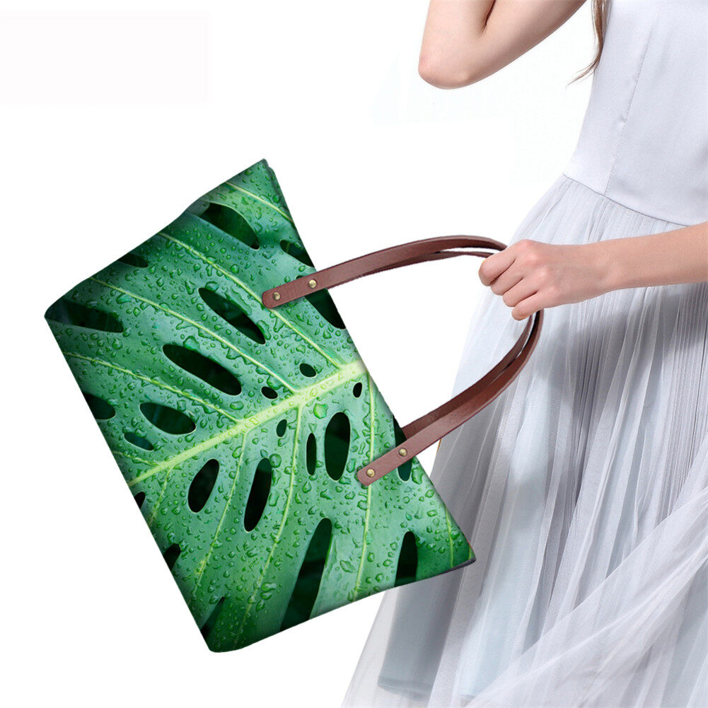 PhoRock Women Large Tote Bag 3D Leaves Printed Handbag NKB3D062 8