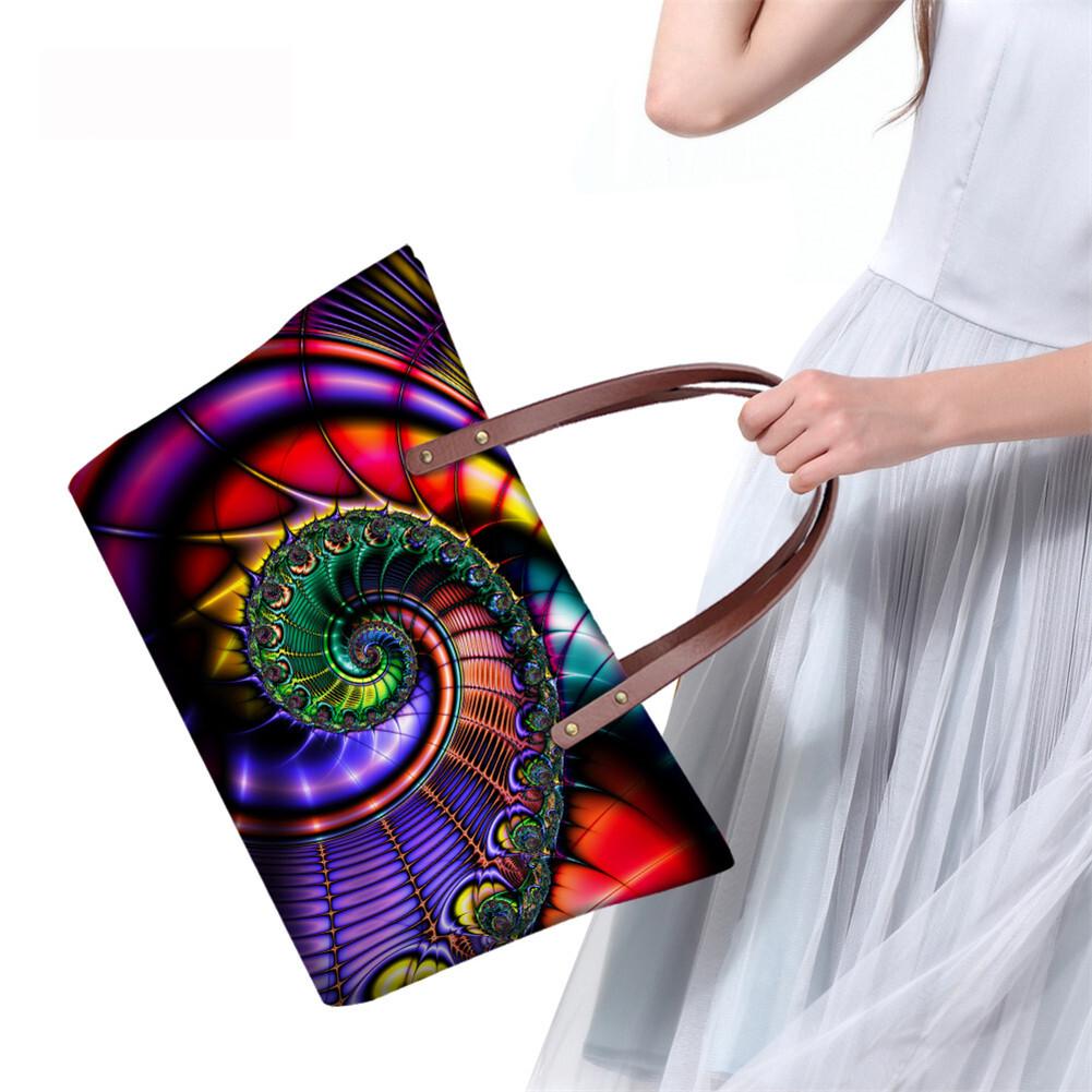 PhoRock Women Large Tote Bag 3D  Special Sight Printed Handbag NKB3D007 8