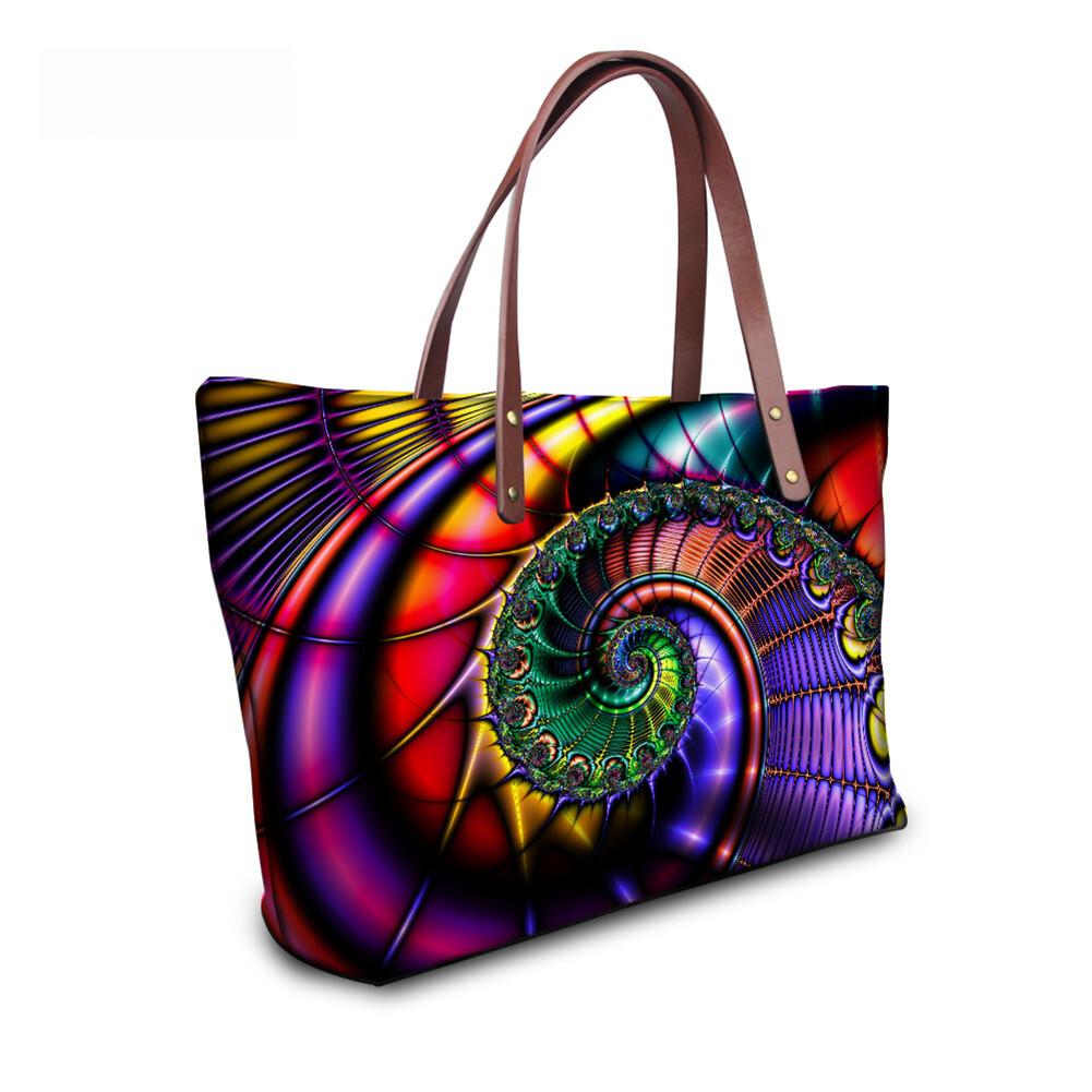 PhoRock Women Large Tote Bag 3D  Special Sight Printed Handbag NKB3D007 9