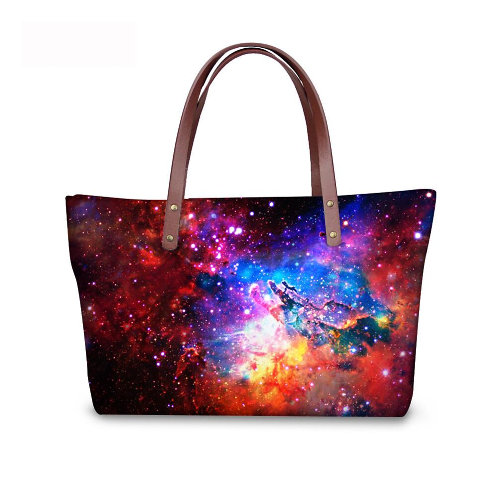 PhoRock Women Large Tote Bag  3D Star Sky Printed Handbag NKB3D004 0