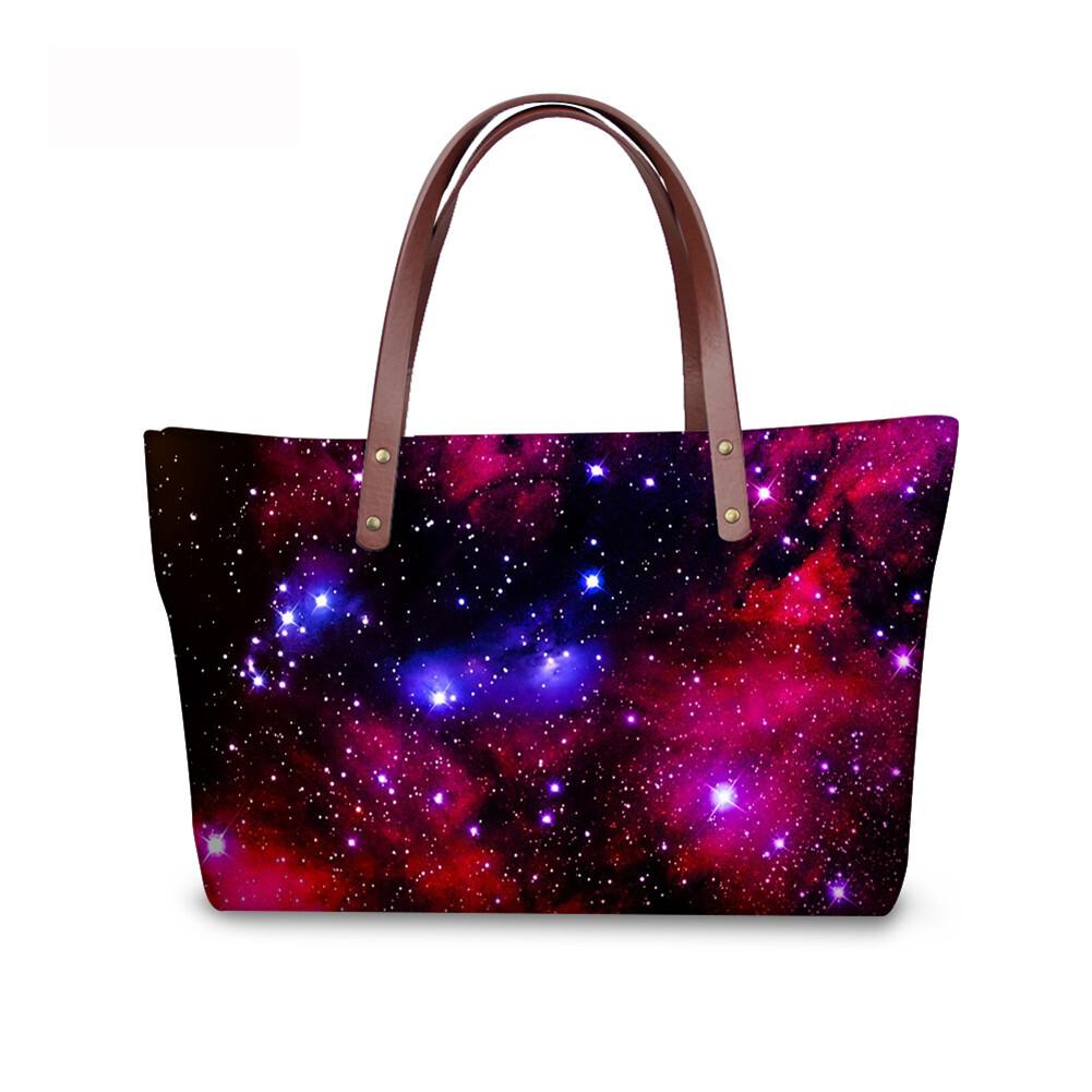 PhoRock Women Large Tote Bag  3D Star Sky Printed Handbag NKB3D004 1