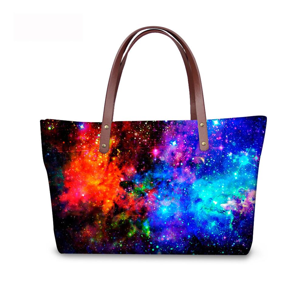 PhoRock Women Large Tote Bag  3D Star Sky Printed Handbag NKB3D004 2