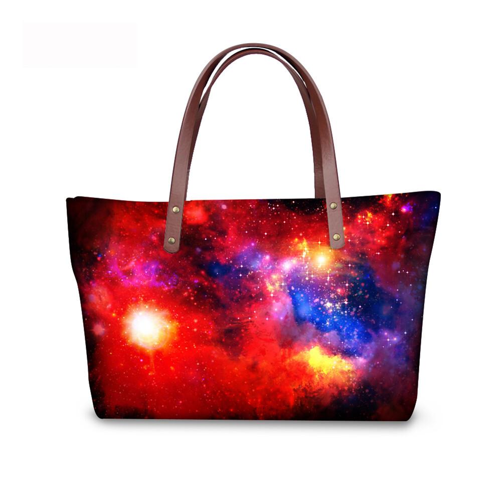 PhoRock Women Large Tote Bag  3D Star Sky Printed Handbag NKB3D004 4